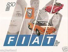 Auto Brochure - Fiat - 850 - Racer Spider Coupe Sedan - c1970 (AB568)