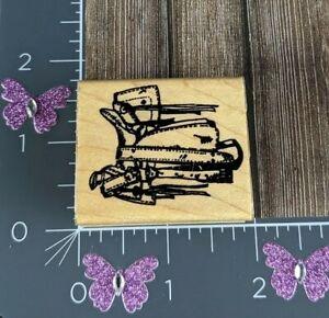 Handyman Tool Bag Belt Rubber Stamp Construction Carpenter #F121