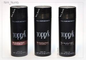 Toppk Hair Bulding Fibers LARGE concealer 27.5g MEDIUM / DARK BROWN טופיק