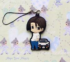 Japan Anime Initial D Takumi Fujiwara + Ae86 Figure Cell Phone Chain Strap Charm