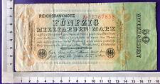 Inflation 50 Mrd Mark 10.10.23, Ros-Nr 116 a, Serie A,  Erh IV