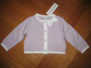 NEW Janie and Jack Baby Girls Size 6-12 Months Purple Cropped Cardigan Bow NWT
