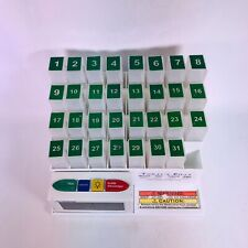 THE MED CENTER SYSTEM 31 Day Monthly Medicine Pill Organizer w/ Alarm #70265