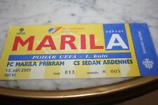 TICKET )) FC MARILA PRIBRAM V SEDAN )) UEFA CUP 2001/2002