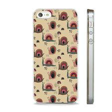 Impresión de caracoles de jardín flores teléfono caso encaja APPLE IPHONE 4 5 6 7 8 X XS SE PLUS