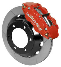 "WILWOOD DISC BRAKE KIT,FRONT,05-17 TOYOTA TACOMA,6-LUG,13"" ROTORS,RED CALIPERS"