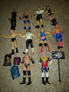 Vintage WWE WWF Wrestling Action Figure Lot 10 Jakks Pacific Toy Lot E
