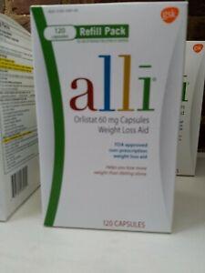 Alli Orlistat OTC Weight Loss Caps, 60 mg., 120 ct., Factory Sealed, Feb 2022