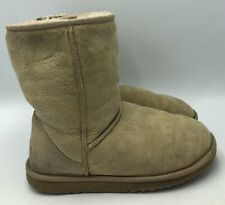 UGG Australia Classic Short Sand Suede Boots Womens Size 6 5825