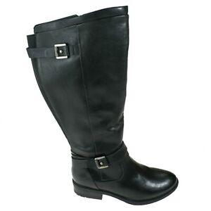 Bare Traps Riding Boots Size 7M Wide Calf Black Womens Yalina Flat Tall NEW
