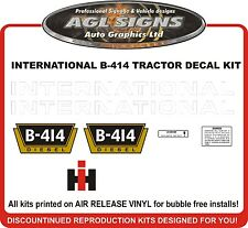 INTERNATIONAL B-414 DIESEL TRACTOR DECAL SET, reproductions