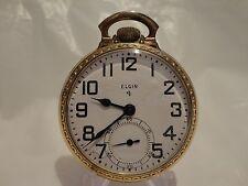 1947 Elgin Grade: 574, Model 20 Openface, 17 Jewels, Size 16, Pocket Watch.