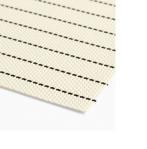 SET OF 4 JOHN LEWIS PVC COASTAL STRIPE PLACEMATS 30CM X 45CM IN ECRU/BLACK