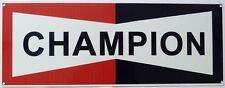 CHAMPION Spark Plugs Logo Metallo Segno Auto/Moto Vintage Garage