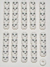 LEGO LOT OF 50 NEW WHITE MONSTER ALIEN AURRA SING MINIFIGURE HEADS HALLOWEEN