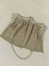 Vintage 1920's German Silver Mesh Evening Bag Beautifully Preserved