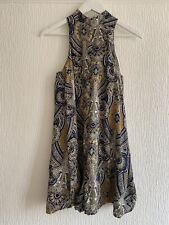 GREY PAISLEY PLAYSUIT 8 MISSGUIDED GLAM PARTY CLUB HOLIDAY SUMMER FESTIVAL POSH
