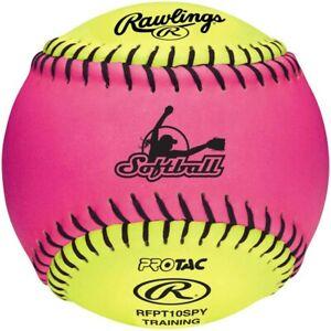 """Rawling RFPT10SPY 1 Dozen  - 10"""" Pink/Yellow Soft Training Ball"""