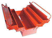 LASER TOOLS  RED METAL TOOLBOX Tool Box Cantilever 5 Tray LARGE 420mm