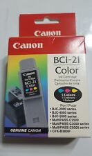 CANON BCI-21 TRI-COLOR INK CARTRIDGE GENUINE NEW