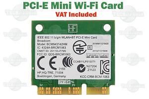 Broadcom Wireless Mini PCI-E WLAN Wi-Fi 802.11b g n + Bluetooth Card BCM943142HM