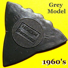 Vintage Guitar Pick  Herdim German Shuriken  (Rare Model - Grey) + 2 Bonus Picks