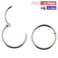 Silver Hoop Sleeper Earrings in High Quality & Non-allergic Solid G23 Titanium