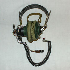 Vintage NEW Soviet Russian USSR Military Radio Headphones AG-2 With Microphone