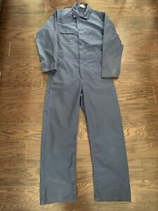 Vintage Sears Work Leisure Blue One Piece Farm Suit Hipster Coveralls Mens Small