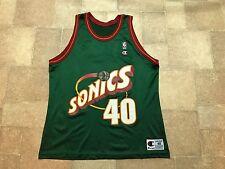 VTG 90s SEATTLE SUPERSONICS SONICS SHAWN KEMP #40 CHAMPION BASKETBALL JERSEY 48