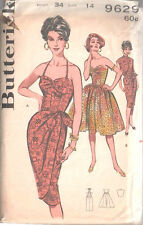 1960 Vintage Sewing Pattern B34 DRESS - SARONG DRESS & JACKET (1498)