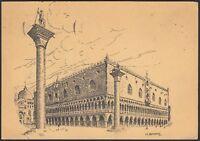 AA3682 Venezia - Palazzo Ducale - Illustratore O. Borsani - Cartolina postale