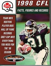 1998 CFL Canadian Football League Facts, Figures & Records GUIDE