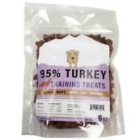 95% Turkey Training Bites - 6 oz Natural Dog Chews Treats USDA & FDA Approved