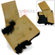 Nordic Fur Lined Sword Frog Holder - Large Swords Holster Tan Cordura Leather