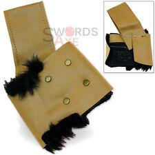 Nordic Fur Lined Sword Frog Holder - Large Swords Holster Tan Cordura Leather