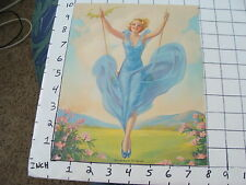 small PIN UP picture/poster LITHO: SPRINGTIME IS SWINGTIME #707