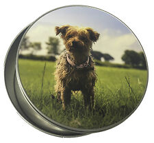 Personalised ROUND tin for Biscuits, Sweets, Pet Treats, memorabilia, buttons