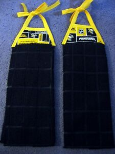 NHL Pittsburgh Penguins Handmade Microfiber Hanging  Kitchen Towels, Set Of Two