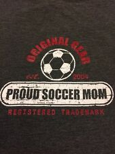 Proud Soccer Mom Original Gear Womans T Shirt Gray