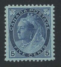 Canada 1898 QV Numeral 5c blue #79 VF MNH