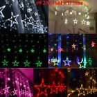 LED Curtain Lights Icicle Hanging Snowing Wedding Christmas String Fairy Lights