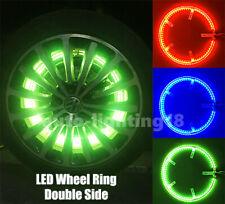 "4pcs Dual Row 15.5"" Illuminated RGB Wheel Ring Rim Light Kit For Universal Cars"