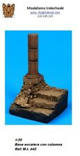 WWII 1/35 Resina base staircase ruins with column base escalera con columna