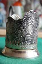 Vintage Podstakannik - Melchior Tea Glass Holder - Russian Soviet Cup Holder