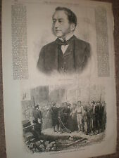 The late composer Sigismond Thalberg 1871 old print and article