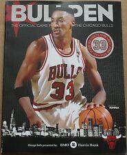 2013-14 Chicago Bulls Bullpen Program Scottie Pippen Cover Butler Poster Inside
