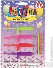 SET 4 ELICHE VOLANTI Party Festa Giocattoli Modellismo Gioco Bambini 0623Y