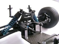 HD Carbon Shock Towers Front for LRP S10 Twister Buggy Truggy, 4mm Carbon