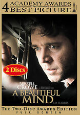 """A BEAUTIFUL MIND""  ""NEW"" DVD Movie 2001 Russell Crowe & Ed Harris- SEALED"